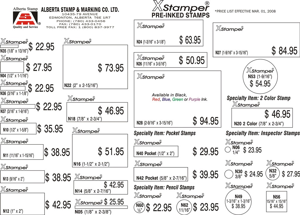 Daters And Stock Items MaxLight Pre Inked Stamps